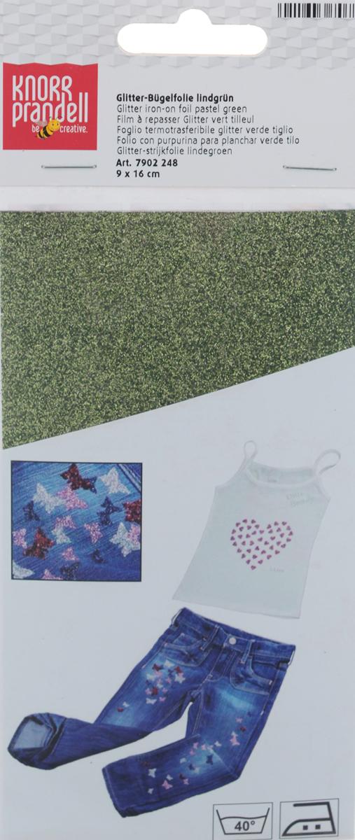 Фольга для декорирования ткани Knorr Prandell, цвет: светло-зеленый, 9 см х 16 см2179022-48Фольга Knorr Prandell предназначена для декорирования ткани. Нужно просто создать необходимый узор и нанести на ткань с помощью утюга. Также фольга может использоваться для украшения картонных коробок и металлических или деревянных изделий. Можно стирать при температуре до 40°С.