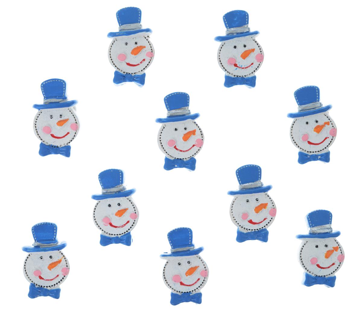 Набор декоративных украшений Lunten Ranta Снеговик в шляпе, на стикере, цвет: белый, синий, 10 шт63577_1Декоративные украшения Lunten Ranta Снеговик в шляпе изготовлены из полирезина и прекрасно подойдут для декора любой поверхности. Их можно использовать для украшения фотоальбомов, подарков, конвертов и многого другого. В наборе - 10 украшений, которые крепятся к поверхности благодаря бумаге на клейкой основе с обратной стороны изделия. Творчество, рукоделие способно приносить массу приятных эмоций не только человеку, который этим занимается, но и его близким, друзьям, родным. Размер украшения: 3 см х 1.7 см х 0,8 см.