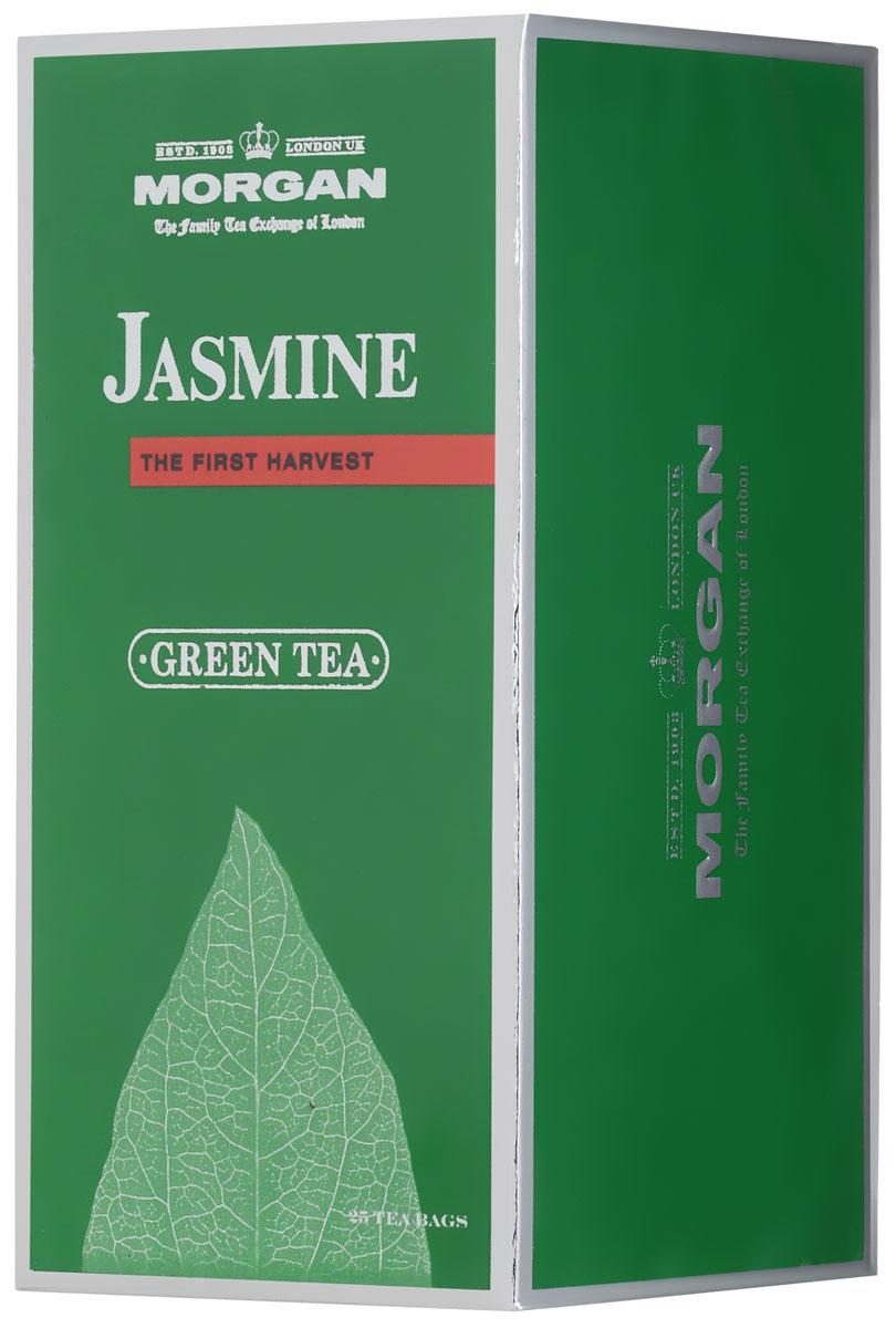 Morgan Jasmine чай зеленый в пакетиках, 25 шт4607141334306Жасмин для чая Morgan Jasmine был собран летом в провинции Фуцзянь, расположенной в юго-восточной части Китая. Классический вкус освежит и придаст сил, а аромат жасмина напомнит о лете.