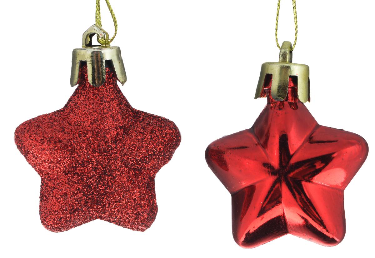 Новогоднее подвесное украшение Феникс-презент Звезда, цвет: красный, 4 х 5 см, 2 шт39024Новогоднее украшение Феникс-презент Звезда отлично подойдет для декорации вашего дома и новогодней ели. Изделие выполнено из пластика в форме многогранной звезды. С помощью специальной петельки украшение можно повесить в любом понравившемся вам месте. Новогодние украшения несут в себе волшебство и красоту праздника. Они помогут вам украсить дом к предстоящим праздникам и оживить интерьер по вашему вкусу. Создайте в доме атмосферу тепла, веселья и радости, украшая его всей семьей. Коллекция декоративных украшений из серии Magic Time принесет в ваш дом ни с чем не сравнимое ощущение волшебства! Размер украшения: 4 см х 5 см х 1,5 см.