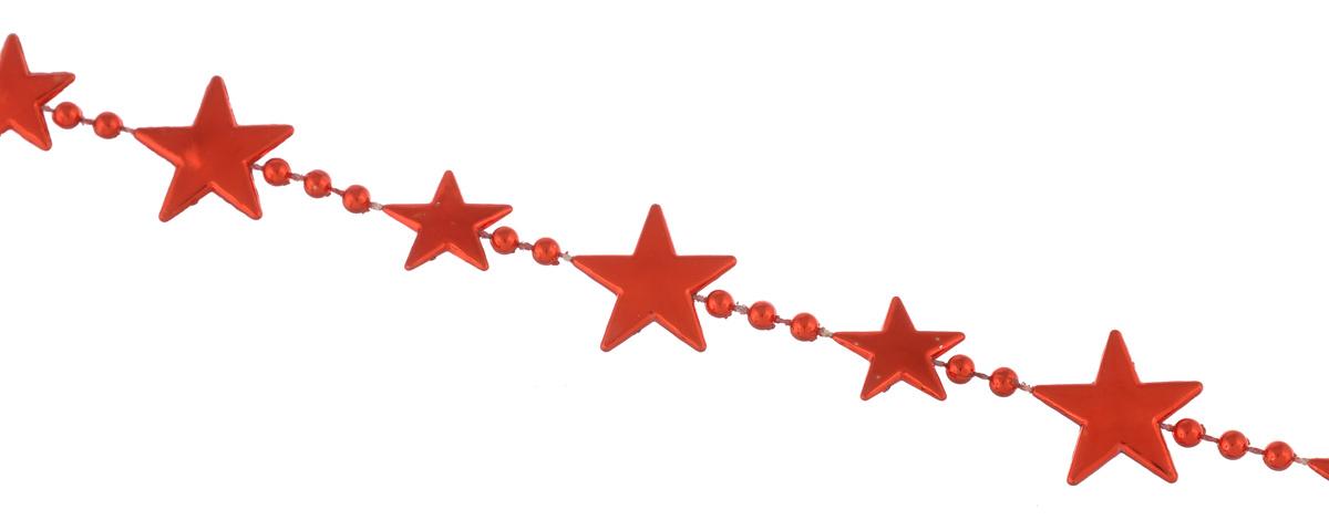 Украшение новогоднее EuroHouse Звезды, цвет: красный, длина 2 мЕХ7477_красныйНовогоднее украшение EuroHouse Звезды, изготовленное из высококачественного пластика, представляет собой декоративные звездочки и бусины на нити. Изделие прекрасно подойдет для декора дома или новогодней ели. Новогодние бусы создают сказочную атмосферу и дарят ощущение праздника. Откройте для себя удивительный мир сказок. Почувствуйте волшебные минуты ожидания праздника, создайте новогоднее настроение вашим дорогим и близким. Размер звездочки: 2 см х 2 см. Длина бус: 2 м.