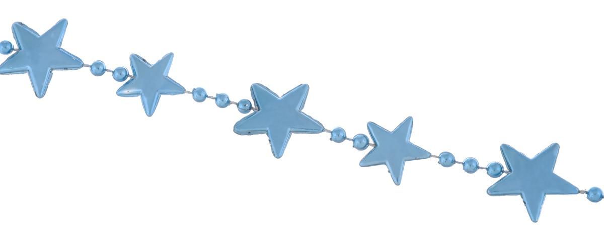 Гирлянда новогодняя EuroHouse Звезды, цвет: бирюзовый, длина 2 мЕХ 9190Новогодняя гирлянда EuroHouse Звезды отлично подойдет для декорации вашего дома и ели. Изделие, выполненное из пластика, представляет собой гирлянду, на текстильной нити, на которой нанизаны фигурки в виде звезд и бусин. Новогодние украшения несут в себе волшебство и красоту праздника. Они помогут вам украсить дом к предстоящим праздникам и оживить интерьер по вашему вкусу. Создайте в доме атмосферу тепла, веселья и радости, украшая его всей семьей. Средний размер фигурок: 2 см х 2 см х 0,2 см. Диаметр бусины: 0,4 см.