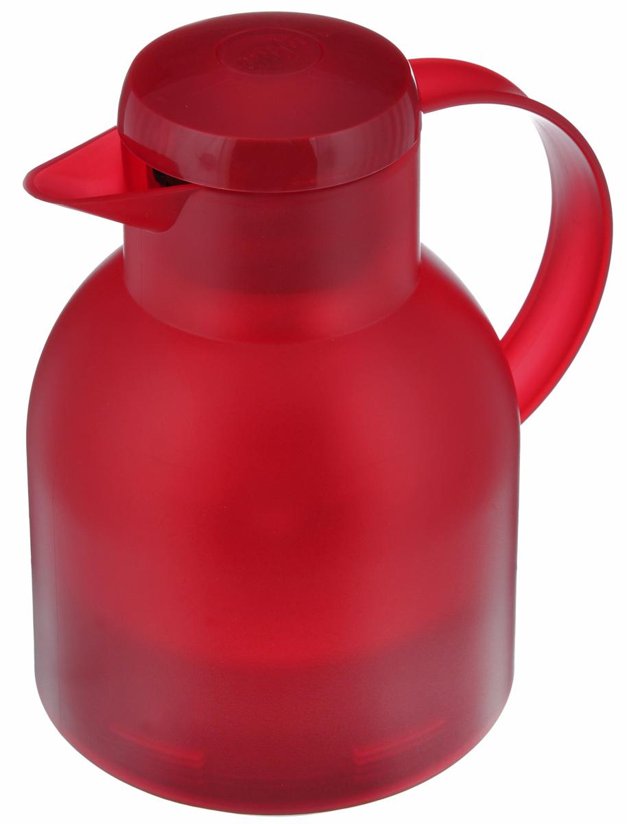 Термос-кофейник Emsa Samba, цвет: красный, 1 л504232Удобный термос-кофейник Emsa Samba станет незаменимым аксессуаром в поездках, выездах на природу, дачу, рыбалку или пикник. Корпус кувшина выполнен из высококачественного пластика, а колба - из стекла. На крышке изделия имеется кнопка, с помощью которой вы сможете легко открыть герметичный клапан, а удобные носик и ручка позволят аккуратно разлить содержимое по стаканам. Пробка разбирается и превосходно моется. Диаметр горлышка: 7 см. Диаметр дна: 14 см. Высота термоса: 21 см.