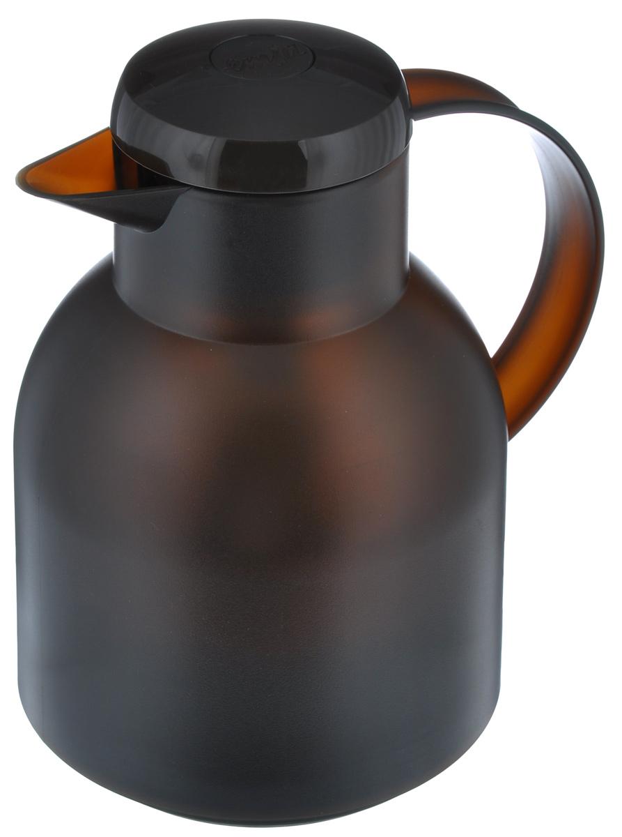 Термос-кофейник Emsa Samba, цвет: коричневый, 1 л509820Удобный термос-кофейник Emsa Samba станет незаменимым аксессуаром в поездках, выездах на природу, дачу, рыбалку или пикник. Корпус кувшина выполнен из высококачественного пластика, а колба - из стекла. На крышке изделия имеется кнопка, с помощью которой вы сможете легко открыть герметичный клапан, а удобные носик и ручка позволят аккуратно разлить содержимое по стаканам. Пробка разбирается и превосходно моется. Диаметр горлышка: 7 см. Диаметр дна: 14 см. Высота термоса: 21 см.