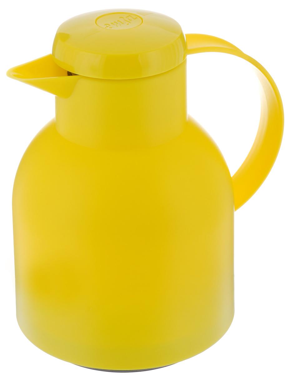 Термос-кофейник Emsa Samba, цвет: желтый, 1 л508950Удобный термос-кофейник Emsa Samba станет незаменимым аксессуаром в поездках, выездах на природу, дачу, рыбалку или пикник. Корпус кувшина выполнен из высококачественного пластика, а колба - из стекла. На крышке изделия имеется кнопка, с помощью которой вы сможете легко открыть герметичный клапан, а удобные носик и ручка позволят аккуратно разлить содержимое по стаканам. Пробка разбирается и превосходно моется. Диаметр горлышка: 7 см. Диаметр дна: 14 см. Высота термоса: 21 см.