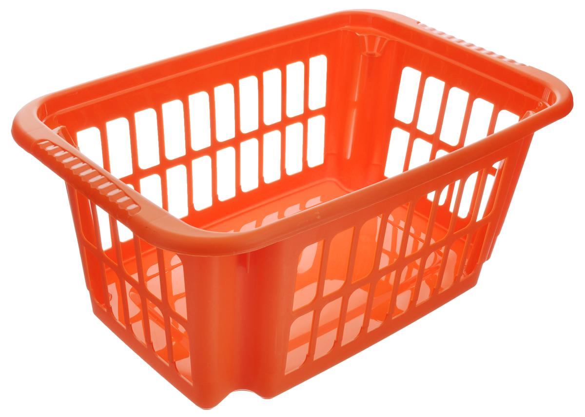 Корзина Алеана, цвет: оранжевый, 10 л122058_оранжевыйКорзина Алеана, выполненная из высококачественного пластика, предназначена для хранения мелочей в ванной, на кухне, даче или гараже. Стенки изделия оформлены перфорацией. Корзина очень вместительная. Элегантный выдержанный дизайн позволяет ей органично вписаться в ваш интерьер и стать его элементом.