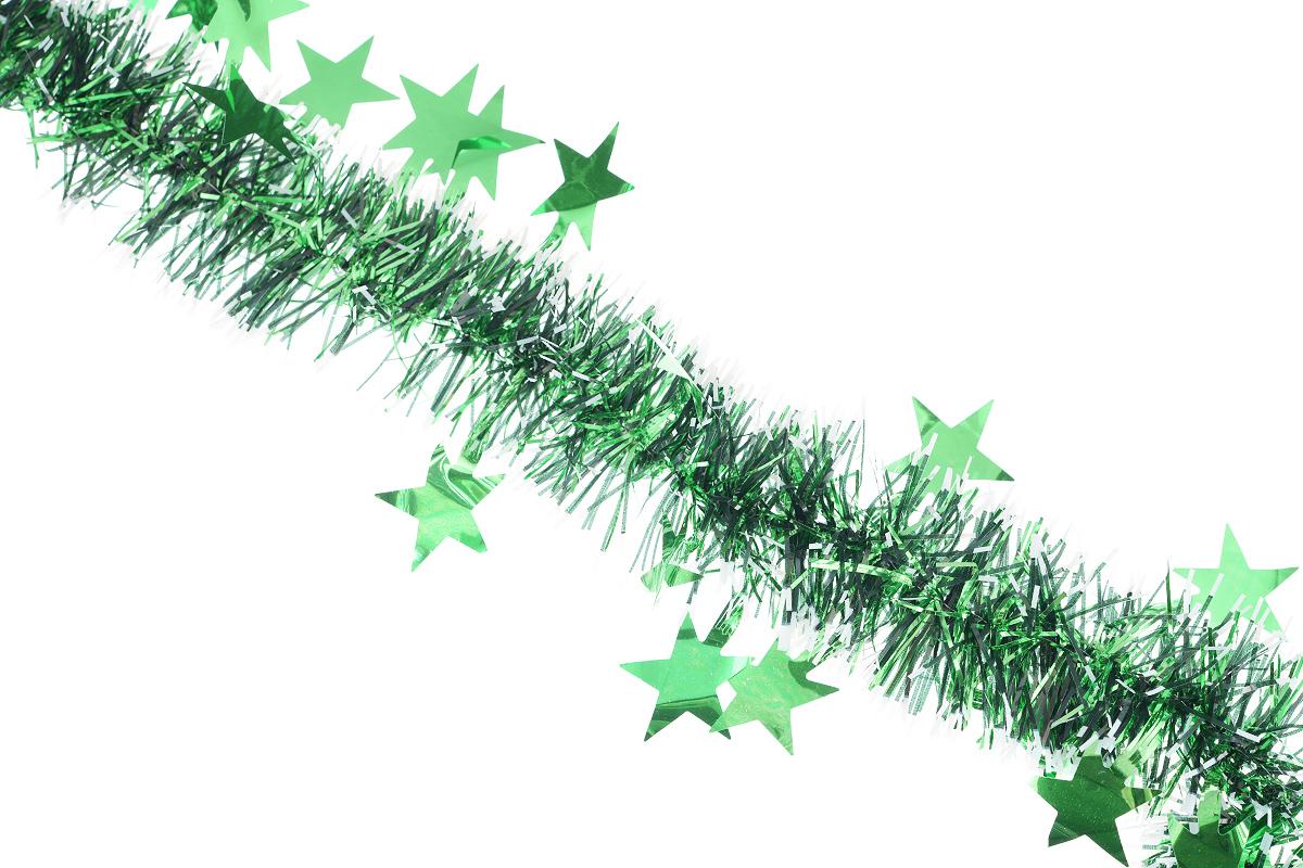 Мишура новогодняя EuroHouse Звезды, цвет: зеленый, белый, черный, диаметр 7 см, длина 200 смЕХ 7417Новогодняя мишура EuroHouse Звезды, выполненная из ПЭТ (полиэтилентерефталата), поможет вам украсить свой дом к предстоящим праздникам. А новогодняя елка с таким украшением станет еще наряднее. Мишура армирована, то есть имеет проволоку внутри и способна сохранять придаваемую ей форму. Новогодней мишурой можно украсить все, что угодно - елку, квартиру, дачу, офис - как внутри, так и снаружи. Можно сложить новогодние поздравления, буквы и цифры, мишурой можно украсить и дополнить гирлянды, можно выделить дверные колонны, оплести дверные проемы.