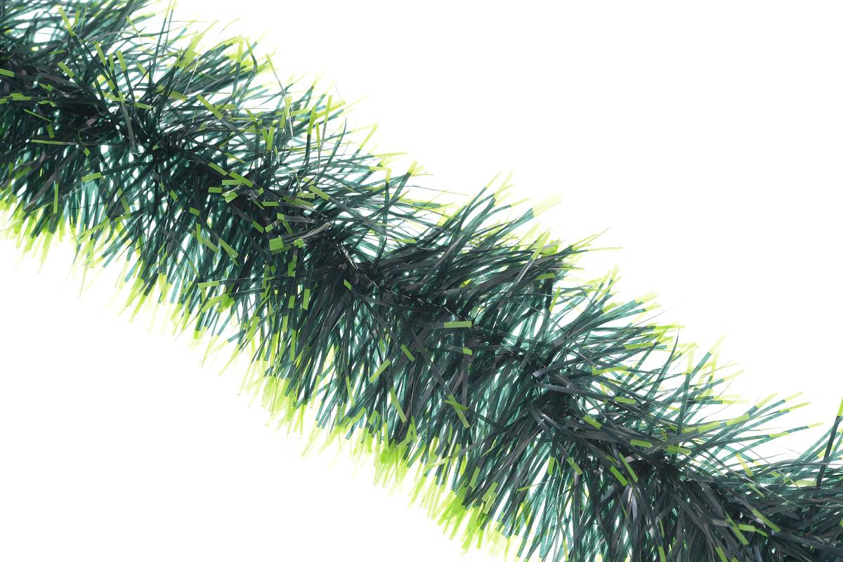 Мишура новогодняя Euro House Лесная рапсодия, цвет: темно-зеленый, зеленый, диаметр 11 см, длина 200 смЕХ 7415_тёмно- зелёный/зелёныйНовогодняя мишура Euro House Лесная рапсодия, выполненная из ПЭТ (полиэтилентерефталата), поможет вам украсить свой дом к предстоящим праздникам. А новогодняя елка с таким украшением станет еще наряднее. Мишура армирована, то есть имеет проволоку внутри и способна сохранять придаваемую ей форму. Новогодней мишурой можно украсить все, что угодно - елку, квартиру, дачу, офис - как внутри, так и снаружи. Можно сложить новогодние поздравления, буквы и цифры, мишурой можно украсить и дополнить гирлянды, можно выделить дверные колонны, оплести дверные проемы.