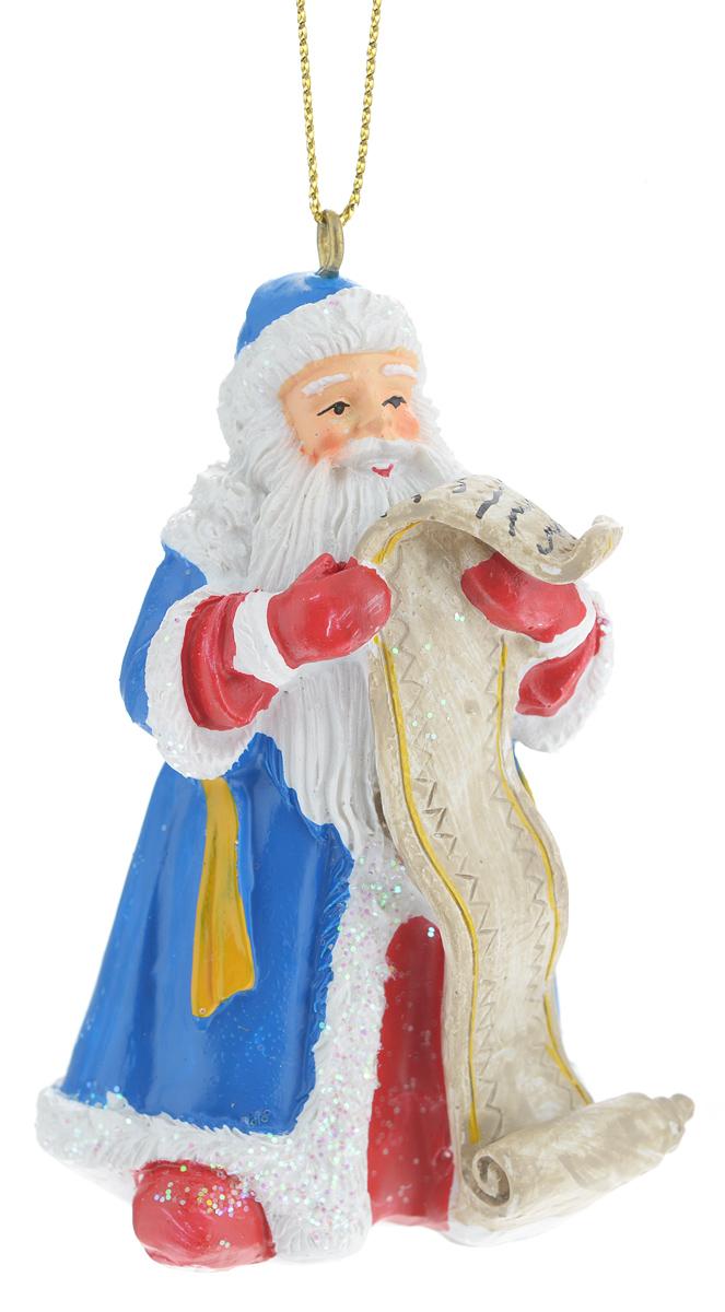 Новогоднее подвесное украшение Феникс-презент Дед Мороз38318Новогоднее украшение Феникс-презент Дед Мороз, изготовленное из высококачественного полирезина, прекрасно подойдет для праздничного декора дома и новогодней ели. С помощью специальной текстильной петельки его можно повесить в любом понравившемся вам месте. Елочная игрушка - символ Нового года. Она несет в себе волшебство и красоту праздника. Создайте в своем доме атмосферу веселья и радости, украшая новогоднюю елку нарядными игрушками, которые будут из года в год накапливать теплоту воспоминаний.
