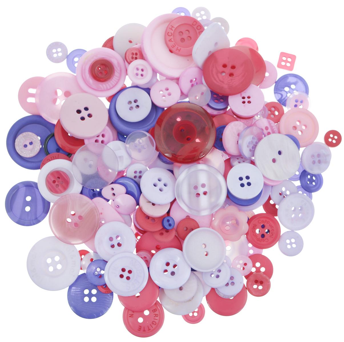 Пуговицы ассорти Палитра цвета (LK), 115г/упак (LK126, Сказочный)7708881_СказочныйНабор пуговиц для творчества и декорирования одежды Buttons Galore & More Сказочные изготовлен из высококачественного пластика. В набор входят пуговицы различных размеров, форм и с разным количеством отверстий. Такие пуговицы подходят для любых видов творчества: скрапбукинга, декорирования, шитья, изготовления кукол, а также для оформления одежды. С их помощью вы сможете украсить открытку, фотографию, альбом, подарок и другие предметы ручной работы. Пуговицы имеют оригинальный и яркий дизайн. Диаметр пуговиц: 1-3 см.