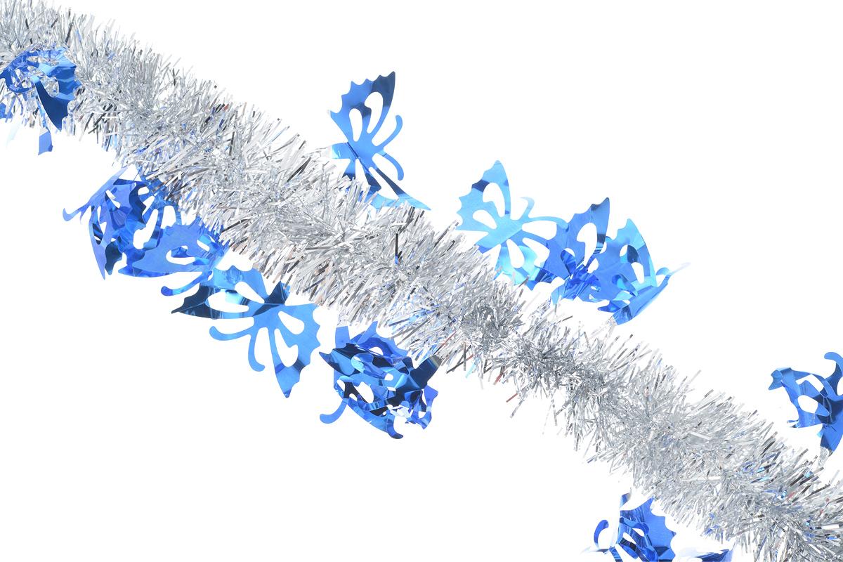 Мишура новогодняя Sima-land, цвет: серебристый, синий, диаметр 5 см, длина 200 см. 825981825981_ серебристый, синийМишура новогодняя Sima-land, выполненная из двухцветной фольги, поможет вам украсить свой дом к предстоящим праздникам. Мишура армирована, то есть имеет проволоку внутри и способна сохранять приданную ей форму. Новогодняя елка с таким украшением станет еще наряднее. Новогодней мишурой можно украсить все, что угодно - елку, квартиру, дачу, офис - как внутри, так и снаружи. Можно сложить новогодние поздравления, буквы и цифры, мишурой можно украсить и дополнить гирлянды, можно выделить дверные колонны, оплести дверные проемы. Мишура принесет в ваш дом ни с чем несравнимое ощущение праздника! Создайте в своем доме атмосферу тепла, веселья и радости, украшая его всей семьей.