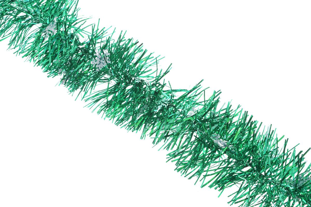 Мишура новогодняя Sima-land, цвет: зеленый, серебристый, диаметр 8 см, длина 200 см. 702599702599_зеленый, серебристыйНовогодняя мишура Sima-land, выполненная из фольги с дизайном в виде снежинок, поможет вам украсить свой дом к предстоящим праздникам. А новогодняя елка с таким украшением станет еще наряднее. Мишура армирована, то есть имеет проволоку внутри и способна сохранять приданную ей форму. Новогодней мишурой можно украсить все, что угодно - елку, квартиру, дачу, офис - как внутри, так и снаружи. Можно сложить новогодние поздравления, буквы и цифры, мишурой можно украсить и дополнить гирлянды, можно выделить дверные колонны, оплести дверные проемы. Коллекция декоративных украшений из серии Зимнее волшебство принесет в ваш дом ни с чем не сравнимое ощущение праздника! Создайте в своем доме атмосферу тепла, веселья и радости, украшая его всей семьей.