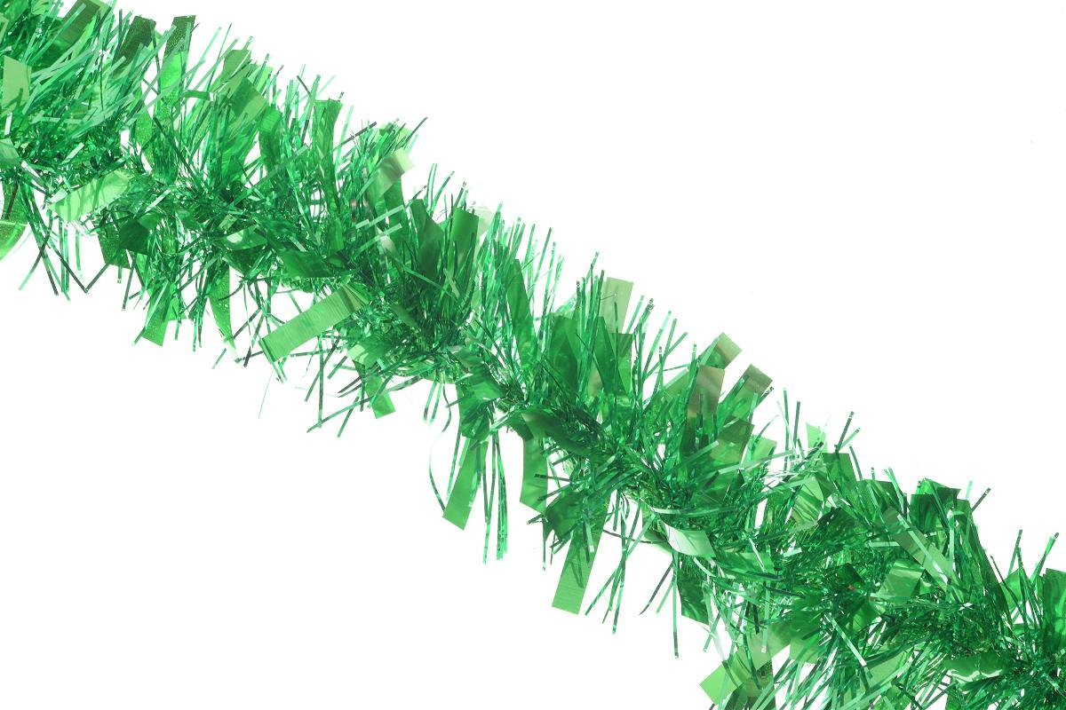 Мишура новогодняя EuroHouse, цвет: зеленый, диаметр 9 см, длина 200 смЕХ7412_зеленыйНовогодняя мишура EuroHouse, выполненная из ПЭТ (полиэтилентерефталата), поможет вам украсить свой дом к предстоящим праздникам. А новогодняя елка с таким украшением станет еще наряднее. Мишура армирована, то есть имеет проволоку внутри и способна сохранять придаваемую ей форму. Новогодней мишурой можно украсить все, что угодно - елку, квартиру, дачу, офис - как внутри, так и снаружи. Можно сложить новогодние поздравления, буквы и цифры, мишурой можно украсить и дополнить гирлянды, выделить дверные колонны, оплести дверные проемы. Новогодняя мишура принесет в ваш дом ни с чем не сравнимое ощущение праздника! Создайте в своем доме атмосферу тепла, веселья и радости, украшая его всей семьей.