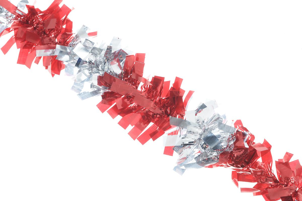 Мишура новогодняя EuroHouse Чудесница, цвет: красный, серебристый, диаметр 6 см, длина 200 смЕХ7420_красный, серебристыйНовогодняя мишура EuroHouse Чудесница, выполненная из ПЭТ (полиэтилентерефталата), поможет вам украсить свой дом к предстоящим праздникам. А новогодняя елка с таким украшением станет еще наряднее. Мишура армирована, то есть имеет проволоку внутри и способна сохранять придаваемую ей форму. Новогодней мишурой можно украсить все, что угодно - елку, квартиру, дачу, офис - как внутри, так и снаружи. Можно сложить новогодние поздравления, буквы и цифры, мишурой можно украсить и дополнить гирлянды, можно выделить дверные колонны, оплести дверные проемы.