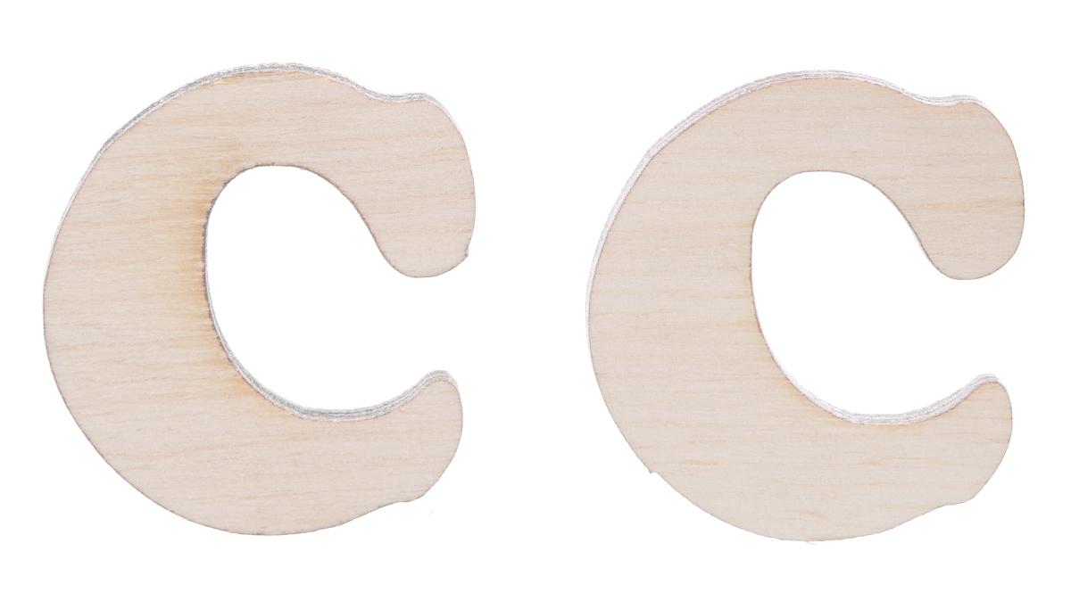 Деревянная заготовка Астра Буква С, 2,9 см х 2,7 см х 0,3 см, 2 шт488150Заготовка Астра Буква С, изготовленная из дерева, станет хорошей основой для вашего творчества. Заготовку можно украсить бисером, блестками, тесьмой, кружевом - возможности не ограничены. Творческий процесс развивает воображение, учит видеть сказку в обыденных вещах, ведь для нее всегда есть место в нашей жизни! Заготовка Астра Буква С станет идеальным украшением интерьера вашего дома и отличным подарком для вас и ваших близких.