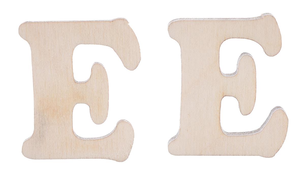 Деревянная заготовка Астра Буква Е, 3 х 2,4 х 0,3 см, 2 шт485951Заготовка Астра Буква Е, изготовленная из дерева, станет хорошей основой для вашего творчества. Заготовку можно украсить бисером, блестками, тесьмой, кружевом - возможности не ограничены. Творческий процесс развивает воображение, учит видеть сказку в обыденных вещах, ведь для нее всегда есть место в нашей жизни! Заготовка Астра Буква Е станет идеальным украшением интерьера вашего дома и отличным подарком для вас и ваших близких.