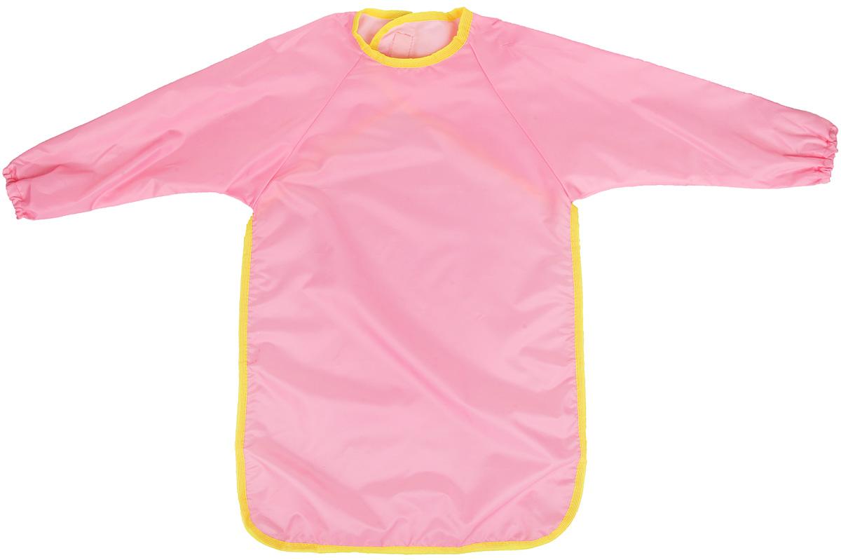 Спортбэби Фартук для детского творчества цвет розовый возраст 6-7 летзо.0013_розовыйУниверсальный фартук для детского творчества Спортбэби надежно защитит одежду и руки ребенка во время занятий рисованием, лепкой и ручным трудом. Фартук с двумя рукавами изготовлен из плотного полиэстера розового цвета. Он надевается спереди как накидка и застегивается на спине с помощью липучки. С фартуком Спортбэби ваш малыш сможет смело рисовать, не боясь испачкаться о свой шедевр, лепить из пластилина и заниматься многими творческими делами. Также фартук удобен при кормлении.