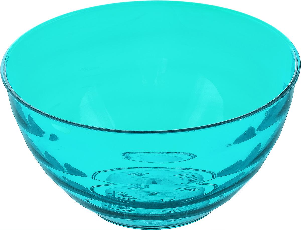 "Салатник Idea ""Аква"", цвет: аквамарин, прозрачный, 500 мл"