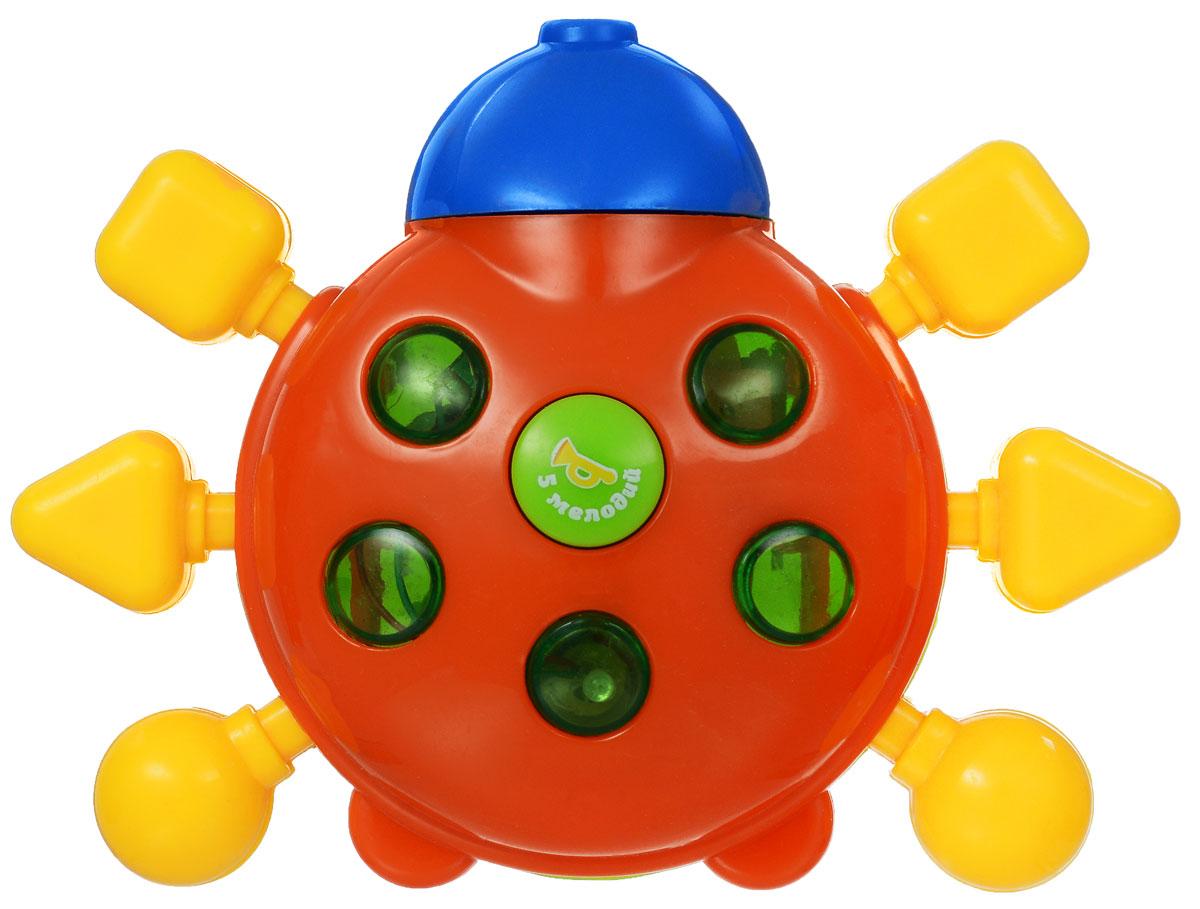 Малышарики Развивающая игрушка Божья коровкаMSH0303-004Развивающая игрушка Малышарики Божья коровка, выполненная из безопасных материалов, поможет малышу научиться фокусировать внимание. Игровая панель снабжена световыми и звуковыми эффектами. Игрушка Малышарики Божья коровка развивает мелкую моторику, слуховое восприятие, а также концентрацию внимания и логическое мышление. Рекомендуется докупить 3 батарейки типа AG13 (товар комплектуется демонстрационными).