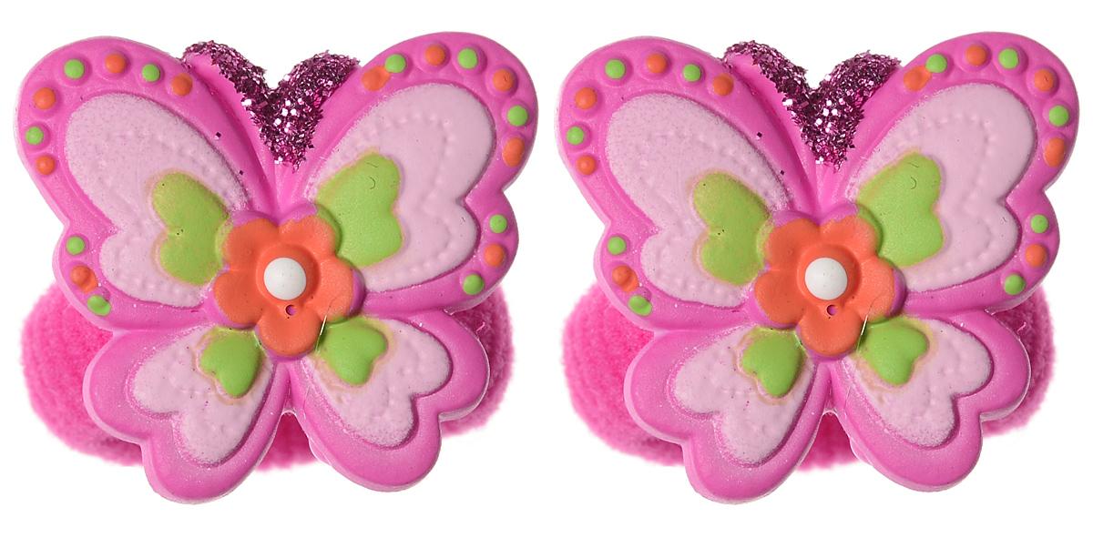 Babys Joy Резинка для волос цвет ярко-розовый 2 шт VT 65VT 65_ярко розовыйРезинка для волос Babys Joy украшена бабочкой из пластика с блестками на усиках и цветочком в центре. Резинка позволит не только убрать непослушные волосы с лица, но и придать образу немного романтичности и очарования. Резинка для волос Babys Joy подчеркнет уникальность вашей маленькой модницы и станет прекрасным дополнением к ее неповторимому стилю.