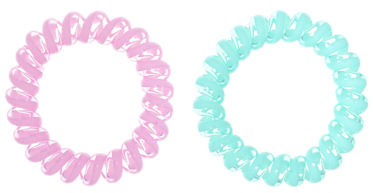 Baby's Joy Резинка для волос цвет бирюзовый светло-розовый 2 шт VT 437