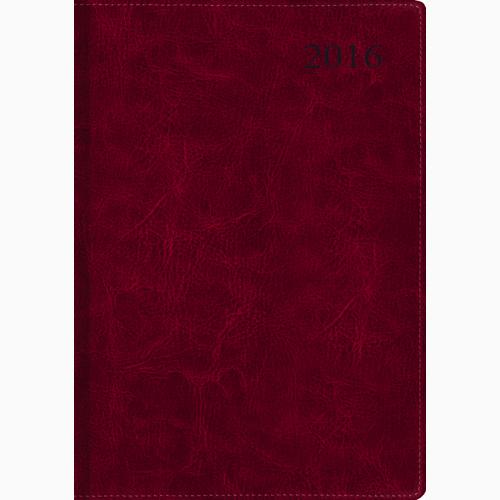 Канц-Эксмо Ежедневник 2016 176 листов цвет бордовый