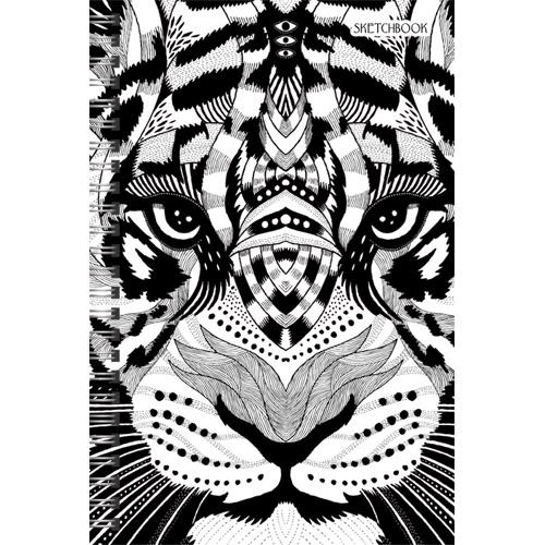 Канц-Эксмо Блокнот Графика (хищник) 100 листов без линовкиТС51004308Скетчбук - блокнот для зарисовок для художников и просто творческих людей. Внутренний блок повышенной плотности - 100гр/м.кв, без линовки. Твердая обложка покрыта матовой ламинацией