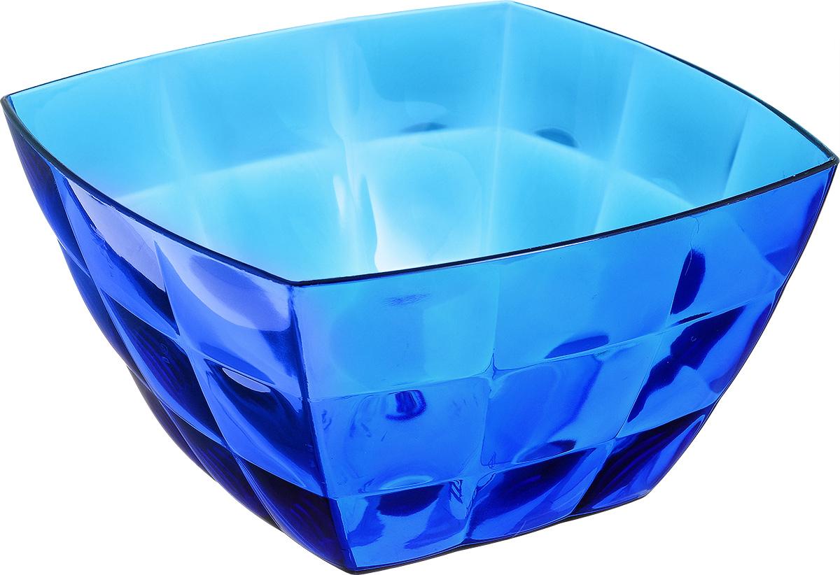 Салатник Idea Квадро, цвет: синий, прозрачный, 2 лМ 1356Салатник Квадро изготовлен из полистирола и идеально подходит для сервировки стола. Этот салатник не только украсит ваш кухонный стол и подчеркнет прекрасный вкус хозяйки, но и станет отличным подарком. Размер салатника: 19 см х 19 см х 10.5 см. Объем салатника: 2 л.
