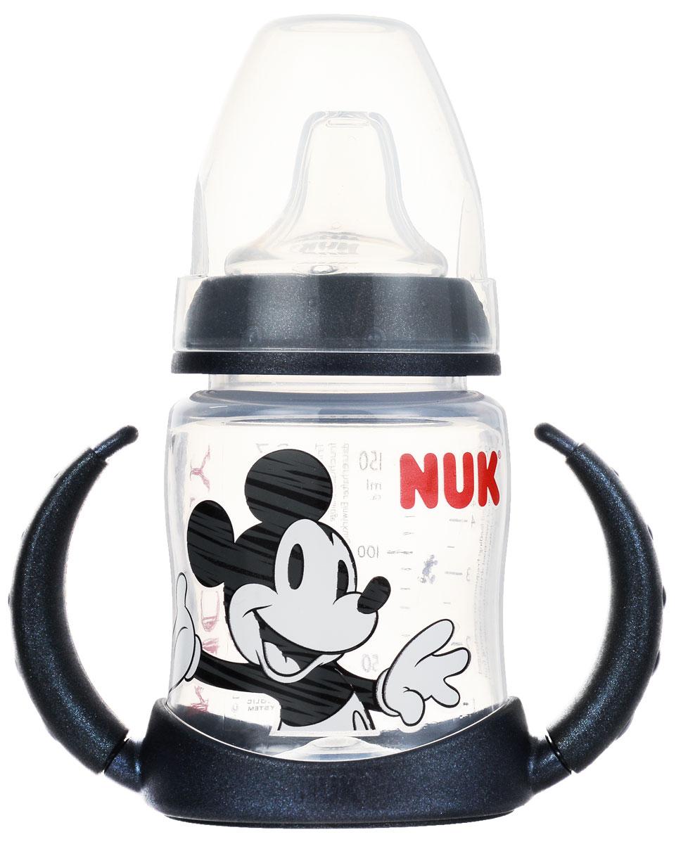 NUK Бутылочка-поильник Дисней Микки цвет черный от 6 до 18 месяцев 150 мл