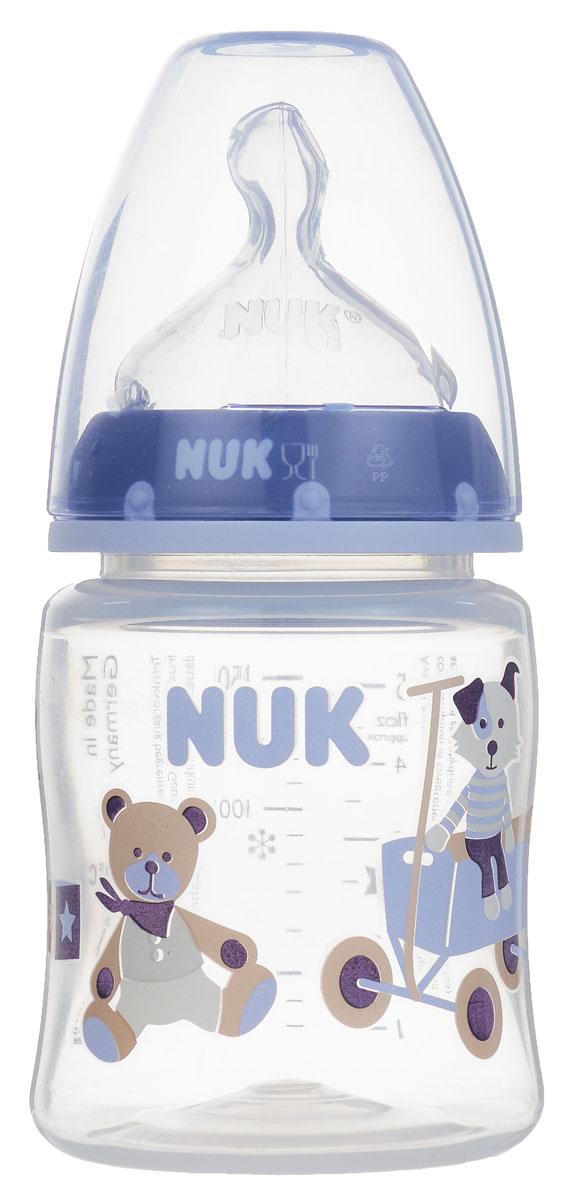 NUK Бутылочка для кормления First Choice цвет голубой бежевый от 0 до 6 месяцев 150 мл