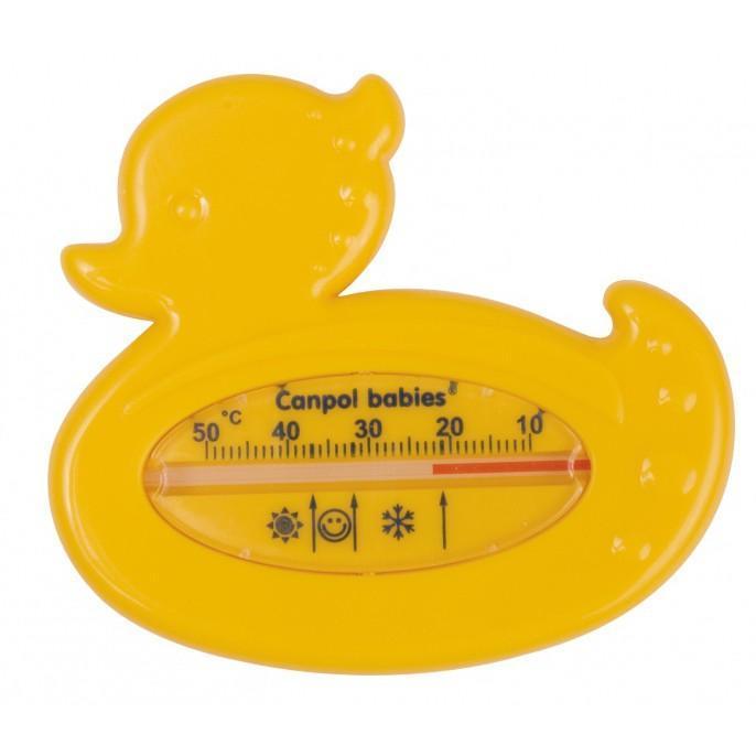 Canpol Babies Термометр для воды цвет желтый2/781_желтыйТермометр для воды — незаменим во время купания малыша. Он позволит точно измерить температуру воды. Интересная форма и яркий цвет термометра будут веселить вашего ребенка во время купания. Правильная температура воды должна быть 37 градусов по Цельсию. На градуснике вы увидите специальные значки в виде солнышка, снежинки и личика ребенка – которые обозначают температуру воды ( вода слишком теплая, холодная и вода комфортной температуры).