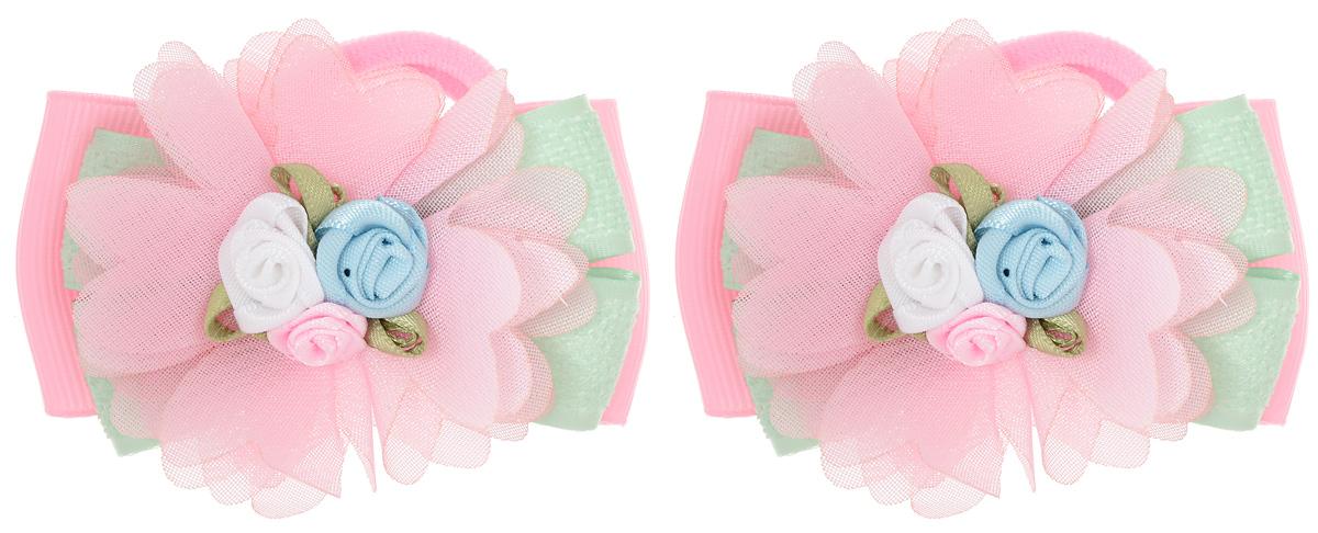 Резинка для волос Babys Joy, цвет: розовый, зеленый, 2 шт. MN 143/2MN 143/2_розовый/зеленыйРезинка для волос Babys Joy изготовлена из текстиля и дополнена милым бантиком, который оформлен тремя розочками. Комплект содержит две резинки. Резинка для волос Babys Joy надежно зафиксирует волосы и подчеркнет красоту прически вашей маленькой принцессы.