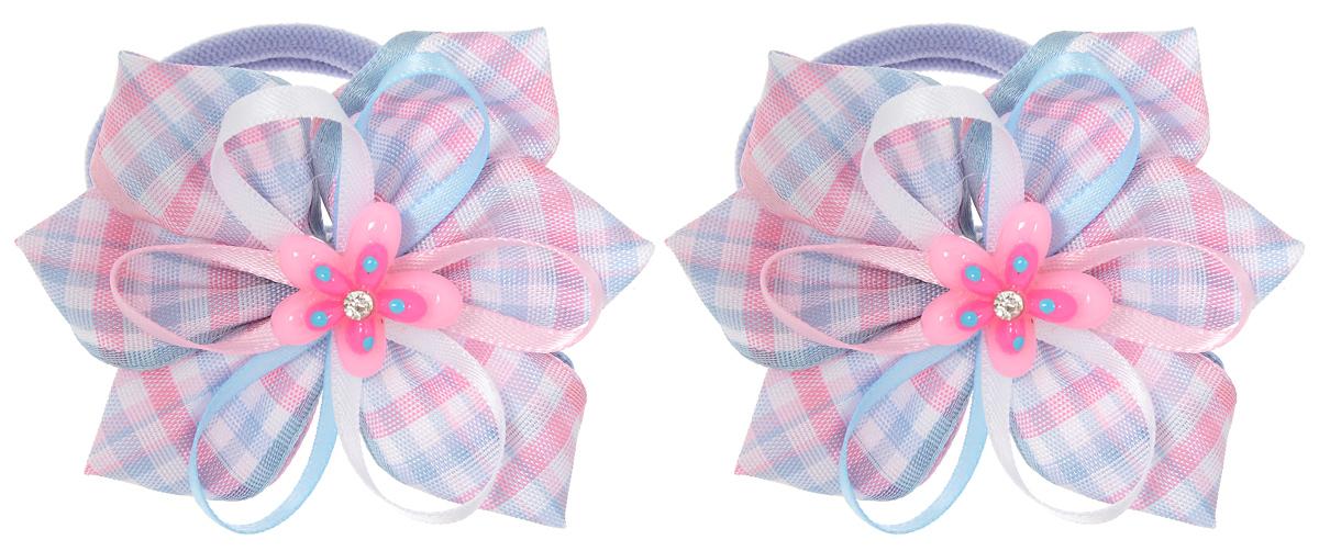 Резинка для волос Babys Joy, цвет: голубой, розовый, 2 шт. MN 137/2MN 137/2_розовый/малиновый/голубойРезинка для волос Babys Joy изготовлена из текстиля и дополнена милым бантиком, который оформлен цветком из пластика. Комплект содержит две резинки. Резинка для волос Babys Joy надежно зафиксирует волосы и подчеркнет красоту прически вашей маленькой принцессы.