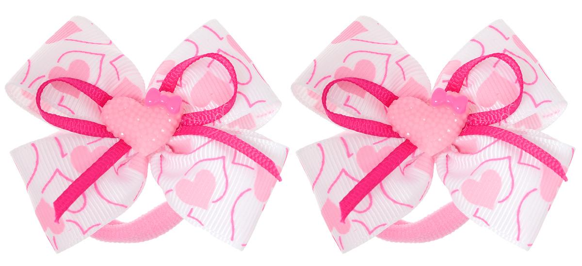 Резинка для волос Babys Joy, цвет: розовый, белый, 2 шт. MN 13MN 13_сердечки/белыйРезинка для волос Babys Joy изготовлена из текстиля и дополнена милым бантиком, который оформлен сердечком из пластика. Комплект содержит две резинки. Резинка для волос Babys Joy надежно зафиксирует волосы и подчеркнет красоту прически вашей маленькой принцессы.