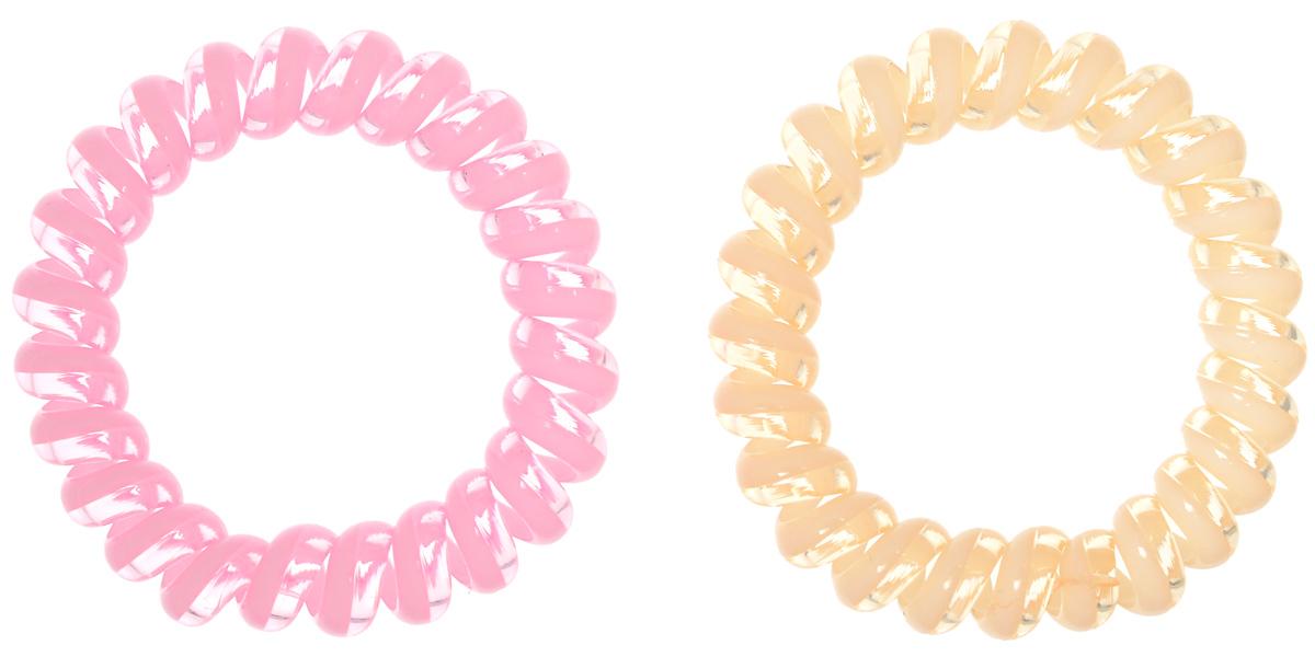 Babys Joy Резинка для волос цвет бежевый светло-розовый 2 шт VT 437VT 437_бежевый, светло-розовыйРезинка для волос Babys Joy выполнена в виде эластичной спирали из пластика, одна половина которой окрашена, а вторая прозрачна. Резинка крепко и надежно фиксирует волосы, не оставляет следов после снятия. Хорошо скользит по волосам, не вызывая ломкости, разрывов и сечения. Такая резинка прекрасно растягивается, при этом не рвется. За счет своей спиральной формы мягко распределяет давление по волосам. Резинка для волос Babys Joy подчеркнет уникальность вашей маленькой модницы и станет прекрасным дополнением к ее неповторимому стилю.