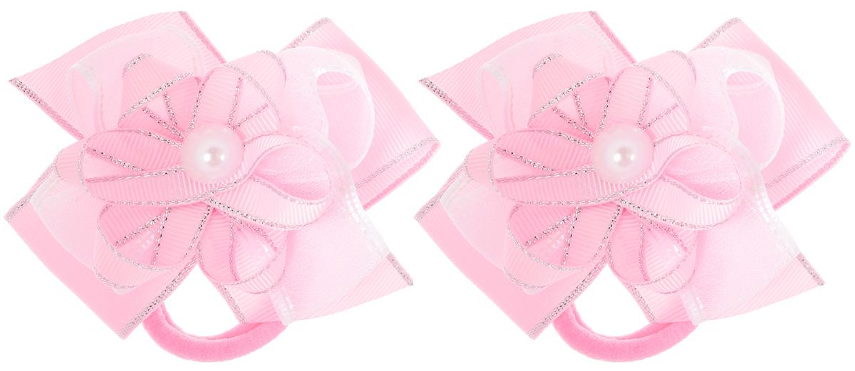 Резинка для волос Babys Joy, цвет: розовый, 2 шт. MN 141/2MN 141/2_розовыйРезинка для волос Babys Joy изготовлена из текстиля и дополнена милым бантиком, который оформлен бусинкой. Комплект содержит две резинки. Резинка для волос Babys Joy надежно зафиксирует волосы и подчеркнет красоту прически вашей маленькой принцессы.
