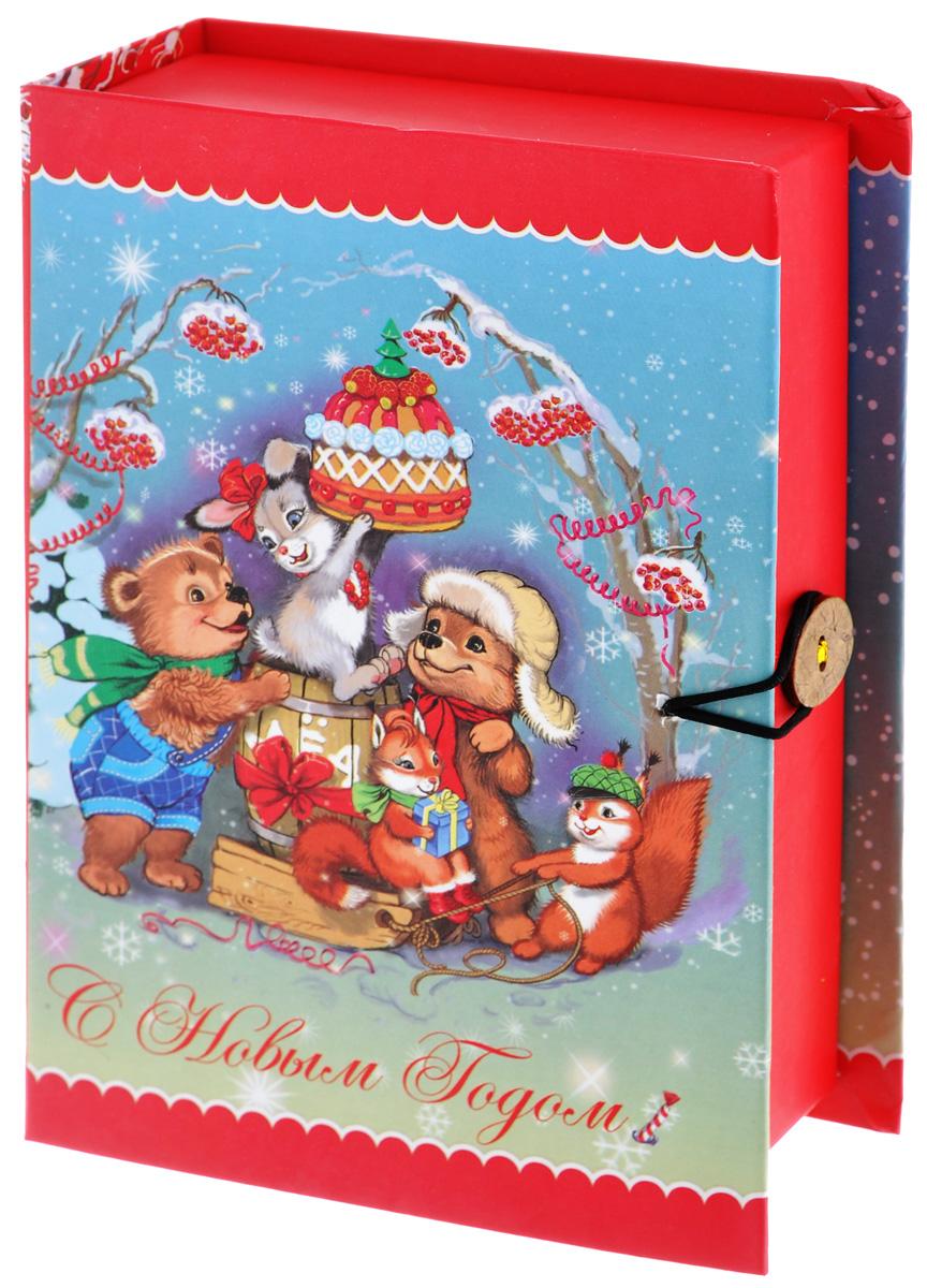 Подарочная коробка Феникс-Презент Лесные зверюшки, 18 х 12 х 5 см39263Подарочная коробка Феникс-Презент Лесные зверюшки выполнена из плотного картона. Крышка оформлена ярким изображением зверей с подарками. Коробка закрывается на пуговицу. Подарочная коробка - это наилучшее решение, если вы хотите порадовать ваших близких и создать праздничное настроение, ведь подарок, преподнесенный в оригинальной упаковке, всегда будет самым эффектным и запоминающимся. Окружите близких людей вниманием и заботой, вручив презент в нарядном, праздничном оформлении.