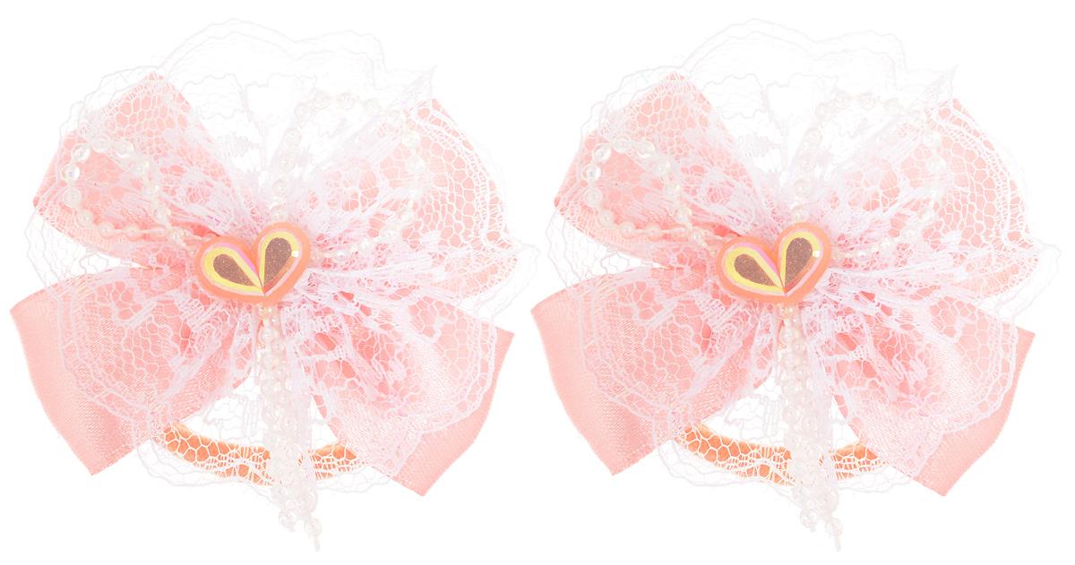 Резинка для волос Babys Joy, цвет: розовый, 2 шт. MN 163/2MN 163/2 _розовыйРезинка для волос Babys Joy изготовлена из текстиля и дополнена милым бантиком, который оформлен сердечком. Комплект содержит две резинки. Резинка для волос Babys Joy надежно зафиксирует волосы и подчеркнет красоту прически вашей маленькой принцессы.