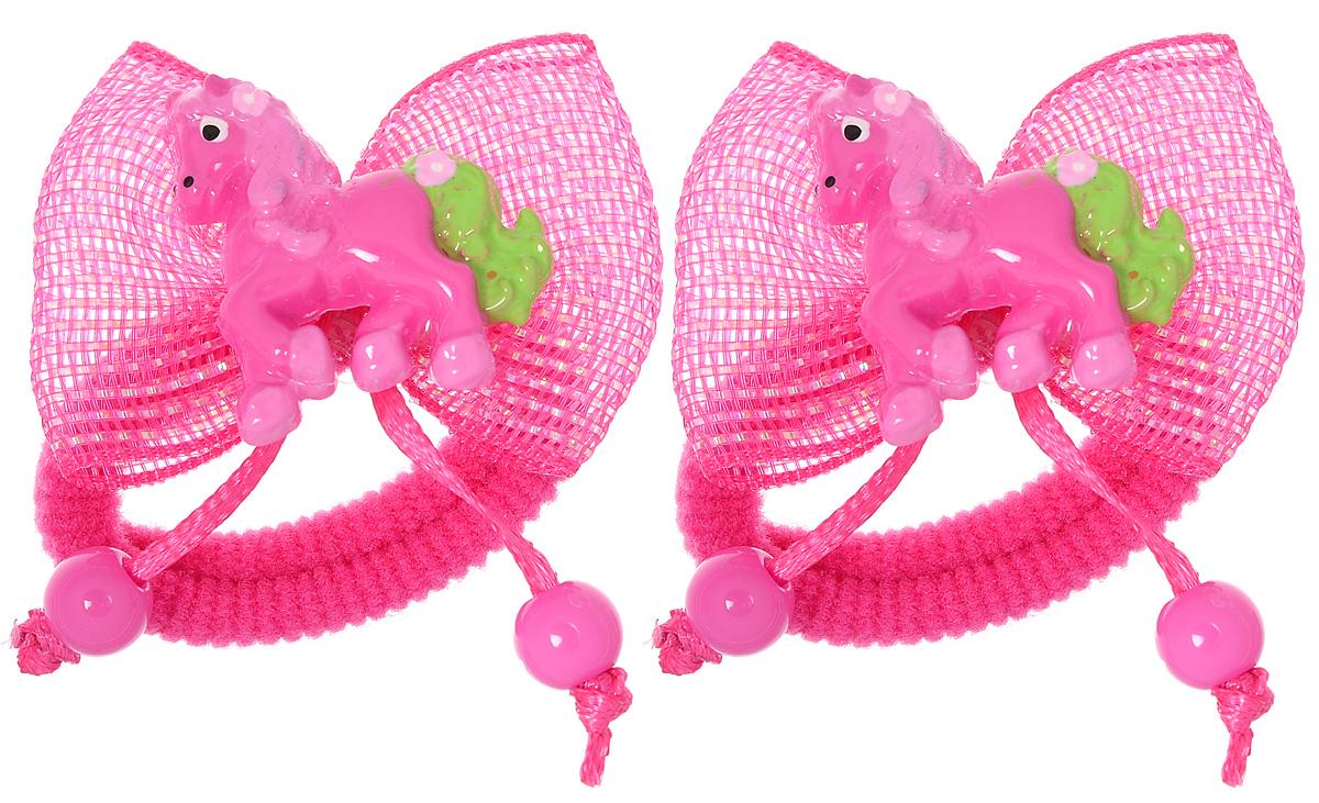 Baby's Joy Резинка для волос цвет малиновый 2 шт VT 191