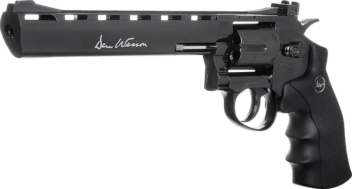 "ASG Револьвер пневматический пулевой ASG ""Dan Wesson 8"" Black"", калибр 4,5 мм"