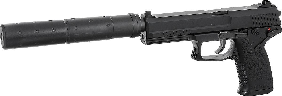 """ASG Пистолет страйкбольный ASG """"Mk23 NBB"""", цвет: черный, калибр 6 мм"""