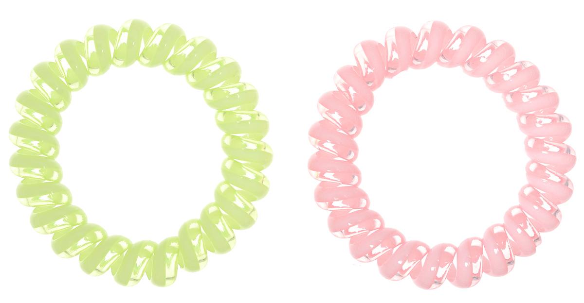 Baby's Joy Резинка для волос цвет бледно-розовый бледно-салатовый 2 шт VT 437