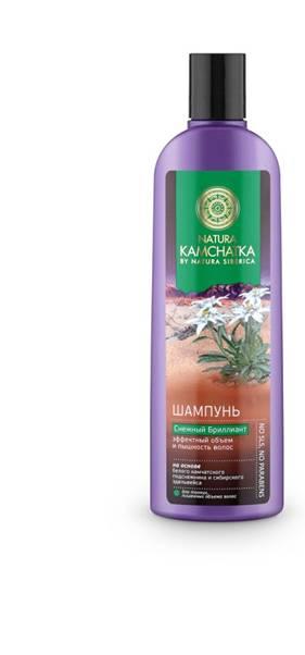 Natura Siberica Kamchatka Шампунь Снежный Бриллиант Эффектный объем и пышность волос, 280 мл