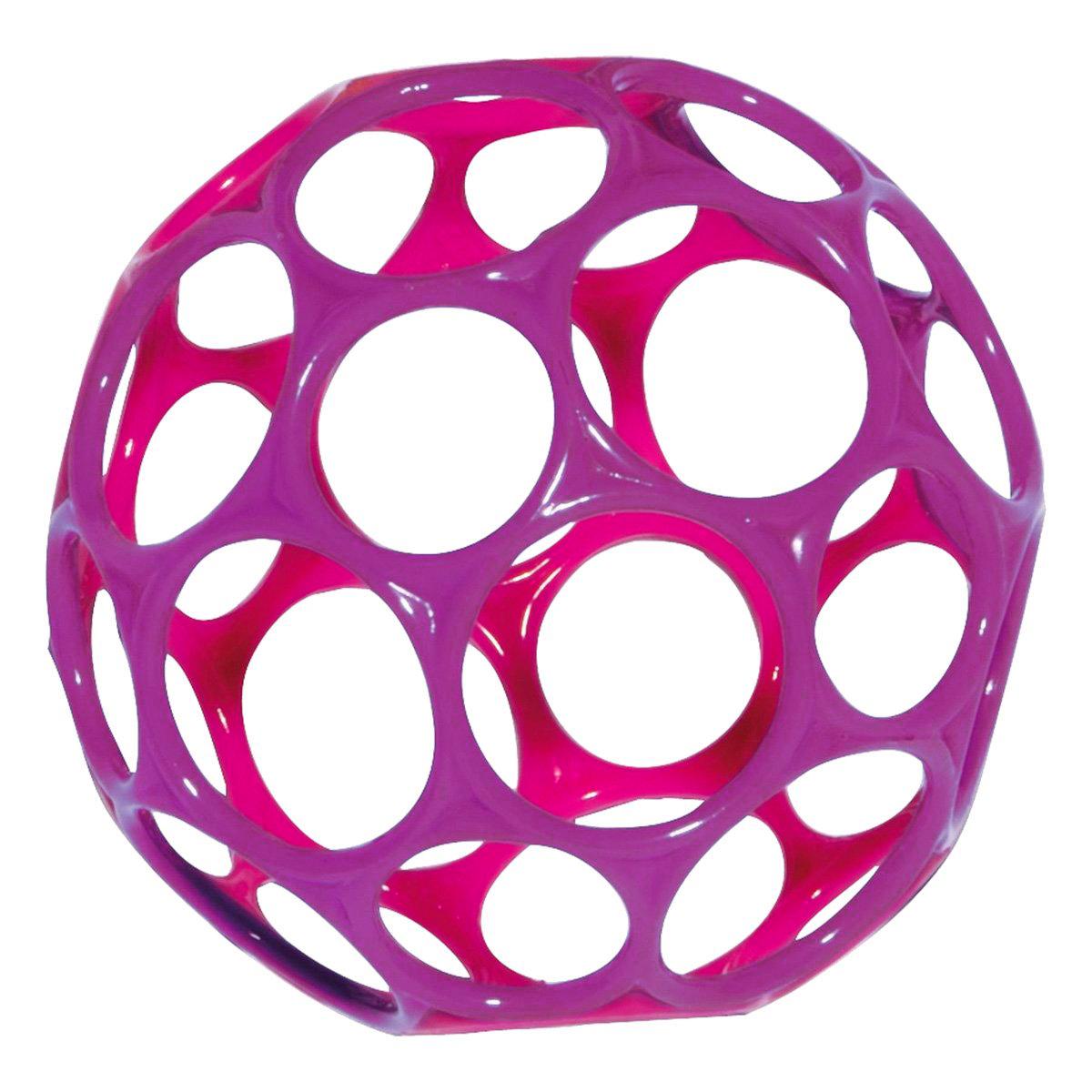 Oball Игрушка развивающая Мячик цвет фуксия розовый81024Универсальный мячик Oball станет для вашего ребенка любимой игрушкой. Выполнен из мягкого пластика ярких цветов. Мяч имеет 32 отверстия для пальчиков, что делает его легким и позволят даже самому маленькому крохе поднять и удерживать. Киньте мячик, и малыш с легкостью его поймает. Его можно растягивать и сжимать, тренируя ручки ребенка и развивая мелкую моторику. Оригинальность материала и формы создают новый необычный инструмент для развития малыша, а положительные эмоции только усилят эффект.