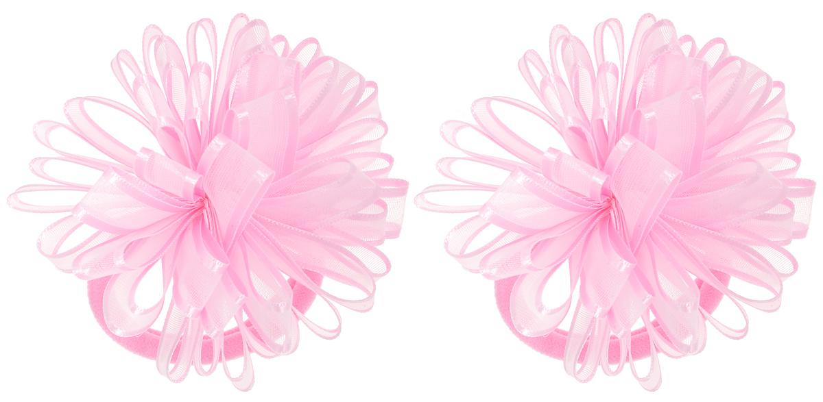 Babys Joy Резинка для волос цвет розовый 2 шт VT 55VT 55_розовыйРезинка для волос Babys Joy выполнена в виде цветка, сшитого из полупрозрачной ленты с атласными краями. Резинка позволит не только убрать непослушные волосы с лица, но и придать образу немного романтичности и очарования. Резинка для волос Babys Joy подчеркнет уникальность вашей маленькой модницы и станет прекрасным дополнением к ее неповторимому стилю.
