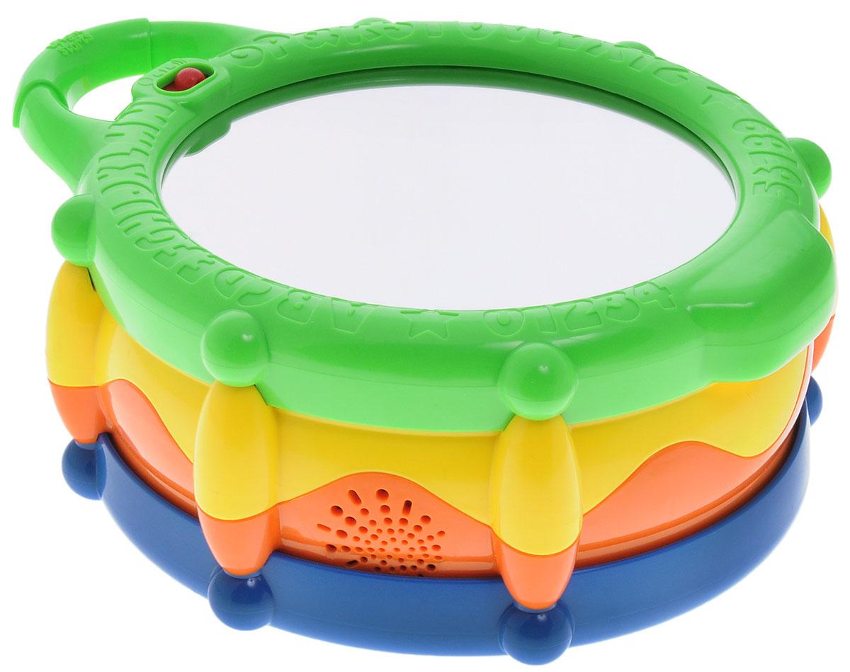 Bright Starts Развивающая игрушка Барабан52179Развивающая игрушка Bright Starts Барабан выполнена в очень красочном дизайне. Эта простая и удобная игрушка работает на батарейках и запрограммирована на взаимодействие с малышом. Игрушка имеет три игровых и обучающих режима: 1. Музыка - играет музыка и светятся огоньки; 2. Числа - счет идет с каждым ударом по барабану; 3. Цвета - загорающиеся огоньки соответствуют расцветке барабана. Для удобства переноски игрушка имеет удобную ручку. Рекомендуется докупить 3 батарейки типа АА (товар комплектуется демонстрационными).