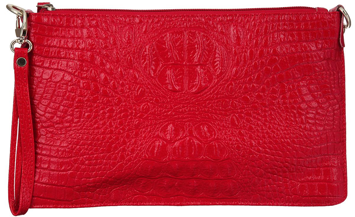 Сумка-клатч женская Cheribags, цвет: красный. 618-16618-16Элегантная сумка-клатч Cheribags выполнена из натуральной кожи с тиснением под рептилию и дополнена металлической фурнитурой. Изделие содержит одно отделение, которое закрывается на застежку-молнию, внутри расположен врезной карман на молнии и карман-средник на молнии, и два накладных кармана для телефона и мелочей. Снаружи, на тыльной стенке сумки расположен врезной карман на молнии. Изделие дополнено практичной съемной ручкой-петлей на запястье и съемным плечевым ремнем, длина которого регулируется при помощи пряжки. Сумка-клатч Cheribags прекрасно дополнит образ и подчеркнет ваш неповторимый стиль.