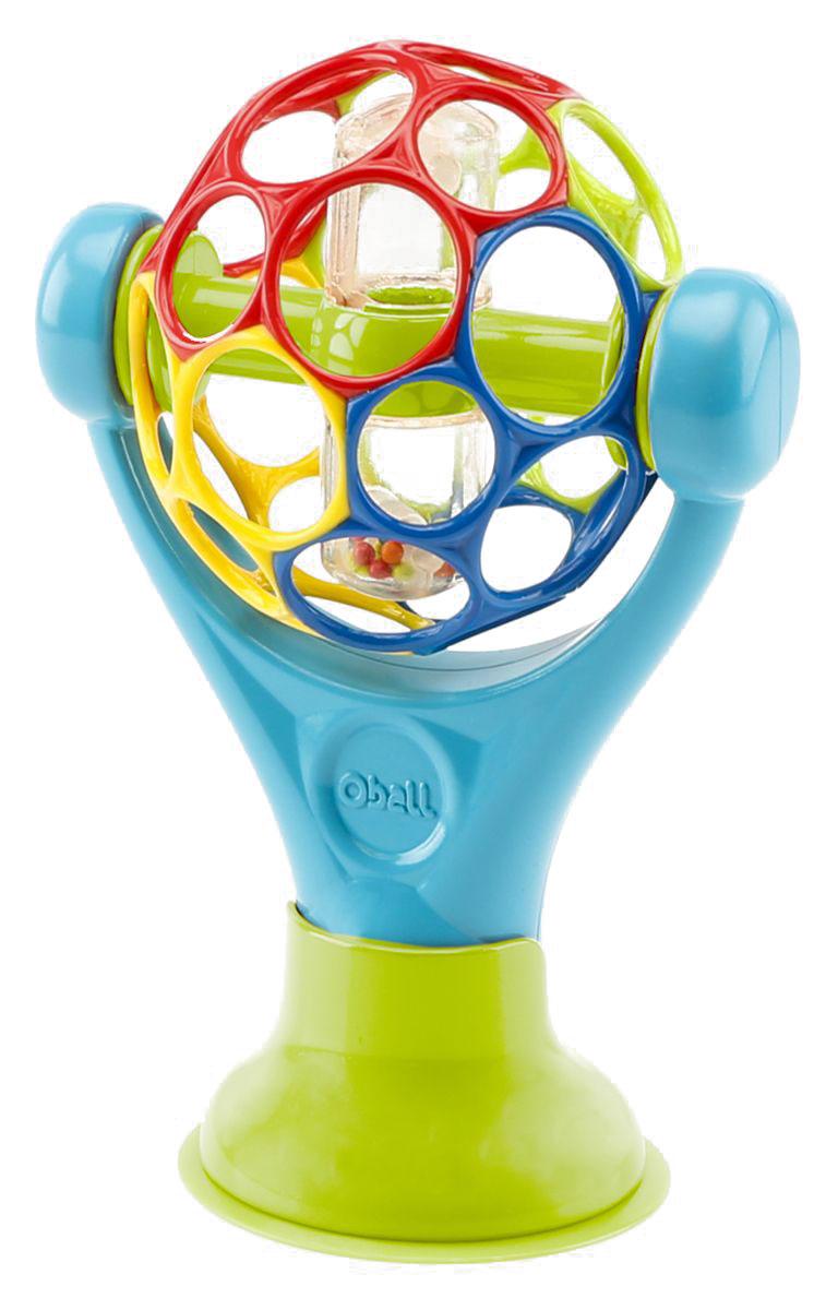 Oball Развивающая игрушка Oball81529Яркая игрушка на присоске развлечет вашего малыша в любом месте! ОСОБЕННОСТИ Мячик Oball с погремушкой: ребенок может крутить и наклонять к себе Удобная подставка с присоской удерживает игрушку на месте Дополнительные характеристики Не содержит вредных веществ Размер товара: 13 х 10 х 18 см Размер коробки: 14,5 х 10 х 25,5 см