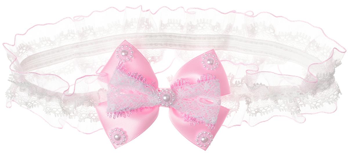 Babys Joy Повязка для волос цвет розовый MN 776MN 776_розовыйПовязка для волос Babys Joy выполнена из текстиля, имеет сетчатую структуру и дополнена розовым бантом, украшенным бусинками. Повязка позволит не только убрать непослушные волосы с лица, но и придать образу немного романтичности и очарования. Повязка для волос Babys Joy подчеркнет уникальность вашей маленькой модницы и станет прекрасным дополнением к ее неповторимому стилю.