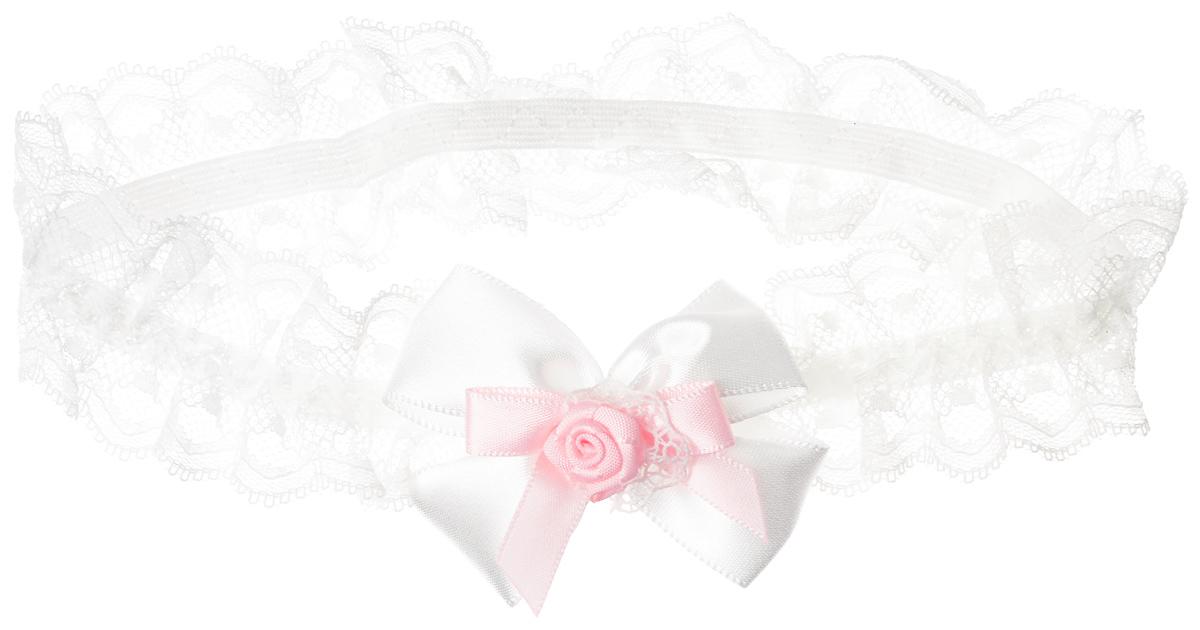 Baby's Joy Повязка для волос цвет белый розовый MN 775 MN 775_белый, розовый